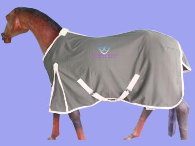 GNG-R5904 – Horse Summer Rug in Polyester Cotton Drill Olive Green