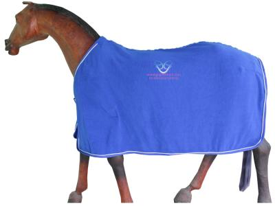 Horse Antipilling Fleece Rug in R.Blue