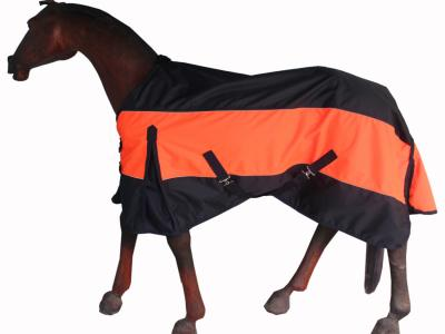 Horse Rain Rug Two Tone Black Orange