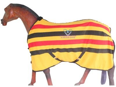 Horse Fleece Rug in Yellow/Red/Black