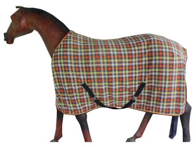 Horse Antiplilling Fleece Rug in Beautifully Chk