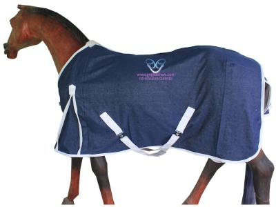 Horse Summer Rug in Denim Cloth Navy