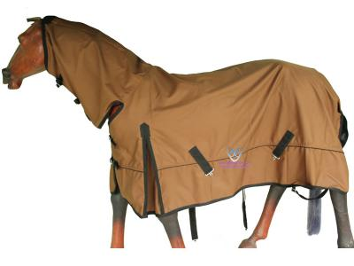 Turnout Rain Combo Rug 1200D Ripstop L.Brown