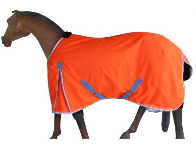 GNG-C1418 – Turnout Winter Rug in  Beautifully Flourescent Orange with Ice blue/white  Binding