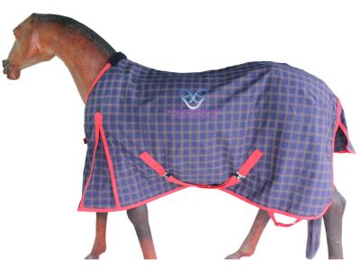GNG-R5635 – Horse Summer Rug in Navy/Khaki Check