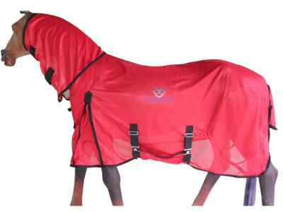 Horse Fly Combo Rug in Light Weight Mesh Red