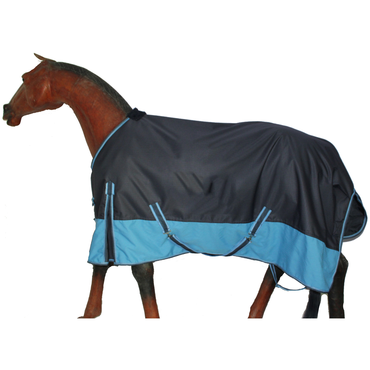 GNG-R1004 – Turnout Winter Rug Navy Blue/Baby Blue